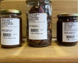 Confiture, pâte à tartiner & châtaignes naturelles